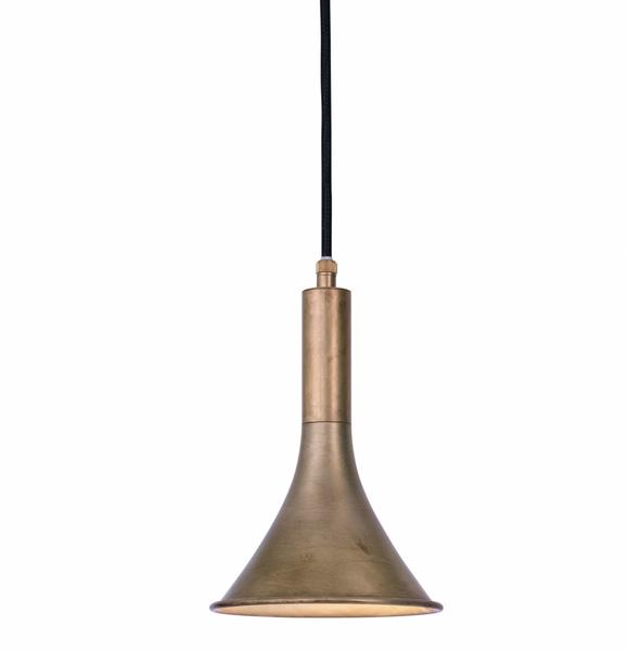 Bilde av Megafon taklampe rett, råmessing