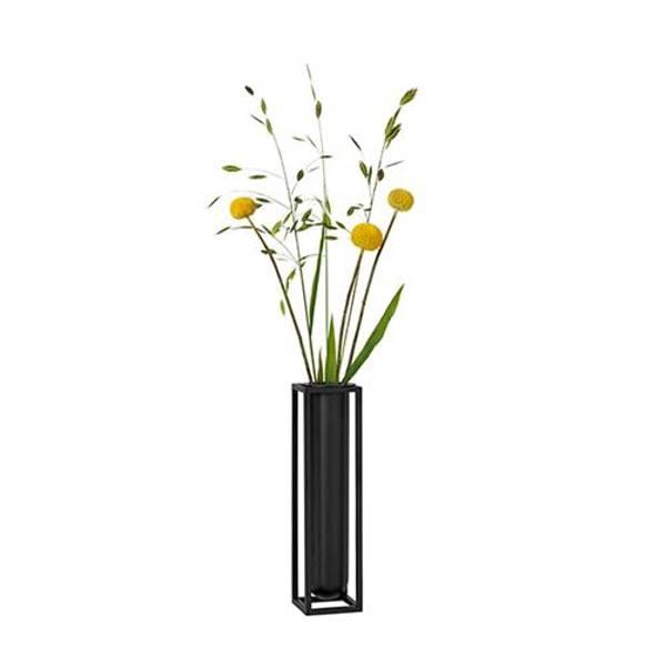 Bilde av By lassen kubus vase flora, sort