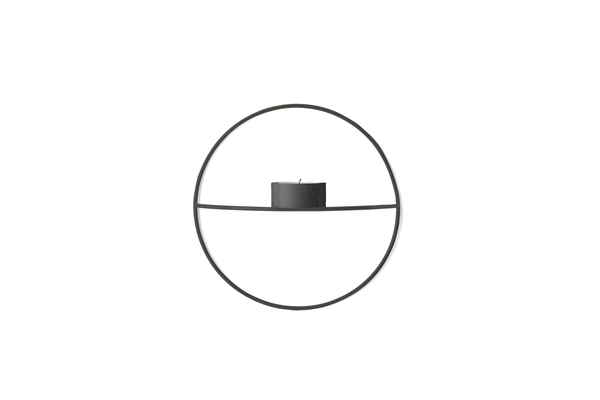 Bilde av Menu POV circle tealight candleholder - S, black