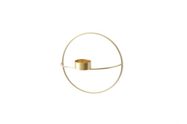 Bilde av Menu POV circle tealight candleholder - S, brass