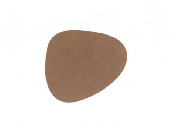 Bilde av glass mat curve 11x13cm nupo brown