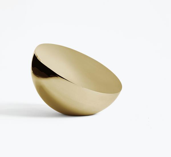 Bilde av Aura Table Mirror Brass PVD Coating